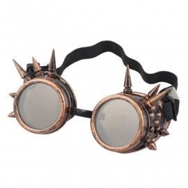Gothic Lolita Emo Steampunk Goggles Bril Spikes Koper S3651