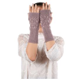 Gebreide Roze Handschoenen S1410