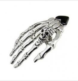 Gothic ,Lolita Oorschelp Oorbel Skelet Skull Doodshoofd Hand S3623