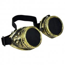 Gothic Lolita Emo Steampunk Goggles Bril Antiek Brons S3647