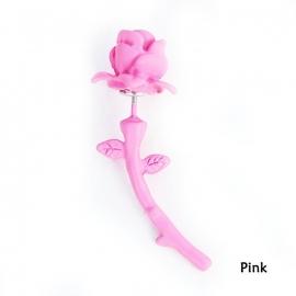 Gothic Lolita Steampunk Oorbel Ear Stud roze Roos S8112