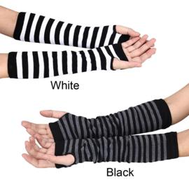 Gothic Lolita Victoriaanse Zwart Grijzen Handschoenen S1408