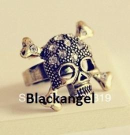 Bonzen Gothic Lolita Steampunk Ring Doodshoofd Skull S8563