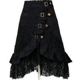 Zwarte Gothic Lolita Rok met Kant  XXL  K202