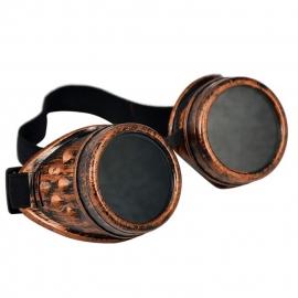 Gothic Lolita Emo Steampunk Goggles Bril Antiek Koper S3646
