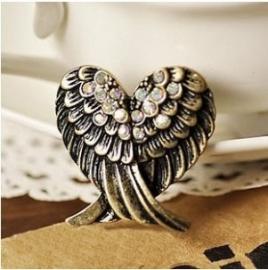 Bonzen Gothic Lolita Steampunk Ring Engel Vleugel S8167