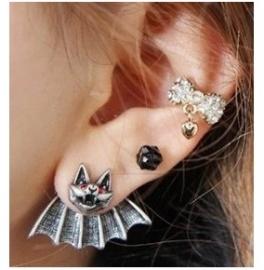 Gothic Lolita Steampunk Oorbel Ear Stud Vleermuis S3568