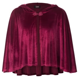 Rode Gothic Lolita Victoriaanse Velours Poncho cape S K1616
