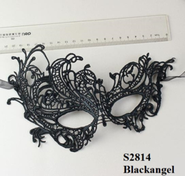 Zwarte Kant Gothic Lolita Masker S2814