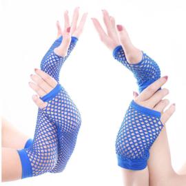 Gothic Lolita Net handschoenen Kort ( Kleur Donker Blauw ) K1406