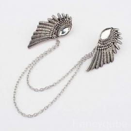 Gothic ,Lolita Bronzen Engele Vleugels Broches S3513