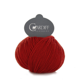 Cardiff Cashmere Classic in Red - Untreated & Sustainable