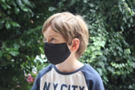 Katoenen mondkapje - zwart