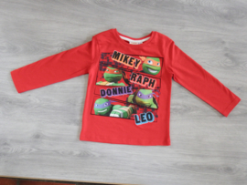 Turtles, t-shirt rood