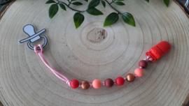 Speenkoord rood, peach, bordeaux en brons