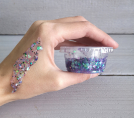 "Glittergel ""Mermaid mix"" lila/blauw"