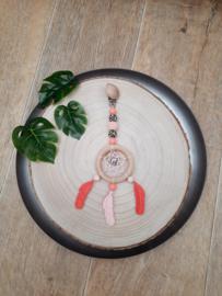 Dromenhanger  zalm roze , koraalrood en luipaardprint