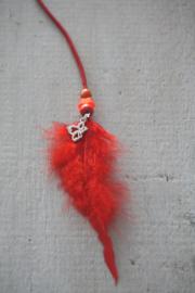Haarveer  warm rood
