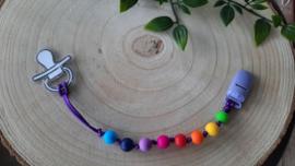Speenkoord regenboog paars