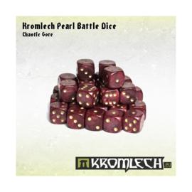 Kromlech Pearl Battle Dice - Chaotic Gore
