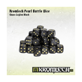 Kromlech Pearl Battle Dice - Chaos Legion Black