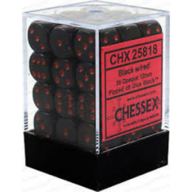 Dice Set Opa Lt. Black/Red 12mm (36)