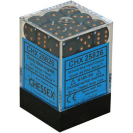 Dice Set Opa Dust Blue/Copper 12mm (36)