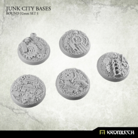Junk City Bases - round 32mm Set 1