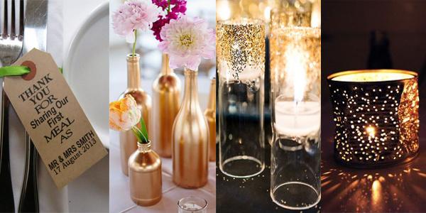 Bruiloft decoratie ideeën - tafeldecoratie