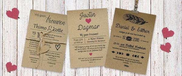 Bruiloft ideeën - trouwkaart inspiratie