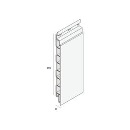 Keralit Kunstsof Plank/Sponningdeel 190 mm  nr.2819