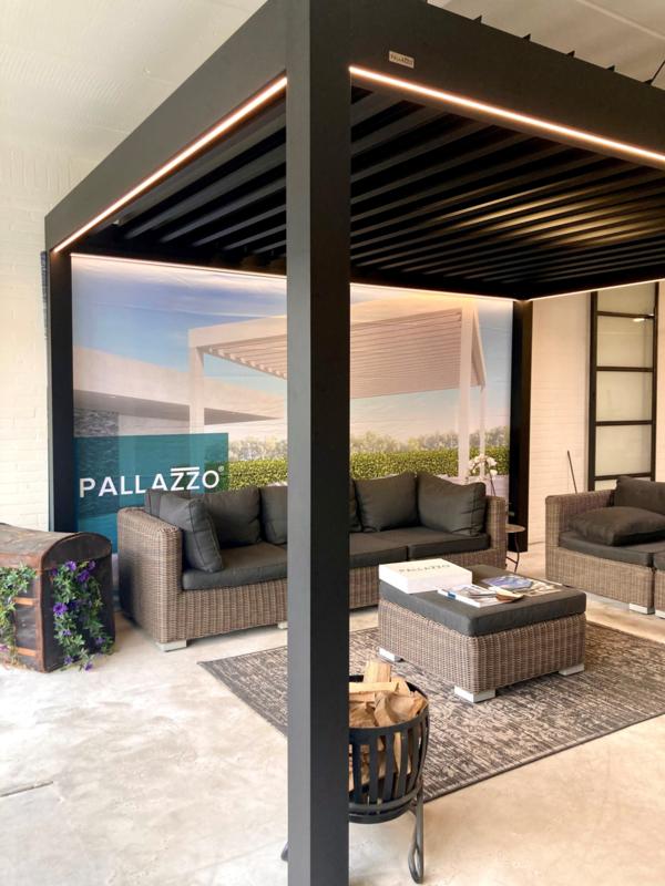 Pallazzo Lounge lamellen dak 6000 mm breed