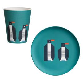 Global Affairs - Plentimals - bamboe servies set Pinguïn
