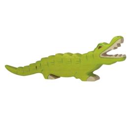 Houten krokodil