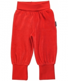 Maxomorra - broek velours red - (maat 50/56)