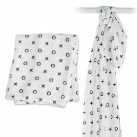 Lulujo Swaddle bamboo - Hugs and Kisses