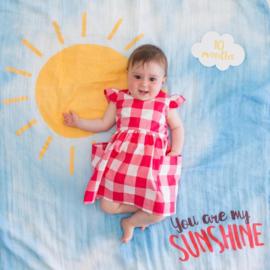 Lulujo Swaddle & Cards - You are my Sunshine