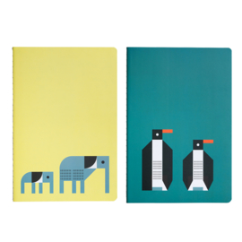 Global Affairs - Schriften van FSC papier - olifant en pinguïn