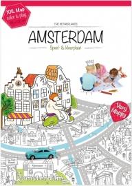 Grote kleurplaat Amsterdam