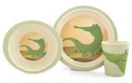 Yuunaa Bamboe kinderservies Krokodil