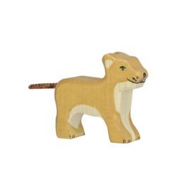Houten leeuw - klein