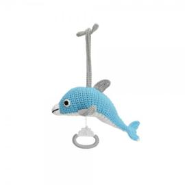 Muziekdoosje Dolfijn Dolphy - blauw
