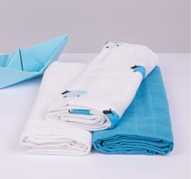 Kadolis Hydrofiele doek blauw schaap