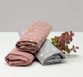 Kadolis Hydrofiele doek powder pink sterren