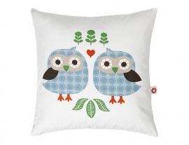 Franck & Fischer - Kussen Almue blue owls