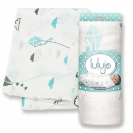 Lulujo Swaddle bamboo - Aqua kite