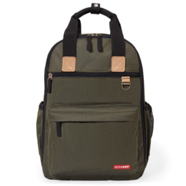 Luiertas - Duo Signature Backpack Olive Mini Grid
