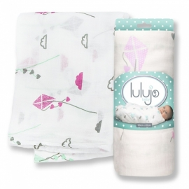Lulujo Swaddle bamboo - Pink kite