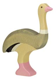 Houten struisvogel