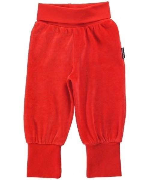 Maxomorra - broek velours red - (maat 62/68)